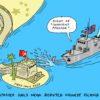Navire de guerre américain en mer de Chine.
