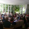 L'accueil de la chorale par toutes les familles lausannoises. Photo E. Bloch
